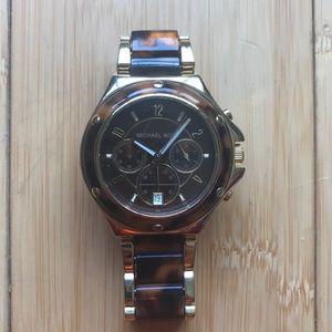 Michael Kors MK5448 tortoise gold watch